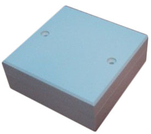 Plastbox, vit, 65x65x25 mm.